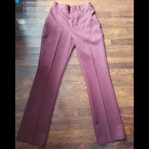 Vintage Ranch WESTERN Maroon High Rise Pants